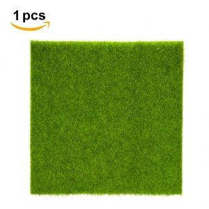 Hierba artificial de hierba hierba de césped de plástico interior al aire libre hierba sintética verde de micro ornamento de paisaje decoración del hogar ( Size : 15cm X 15cm )