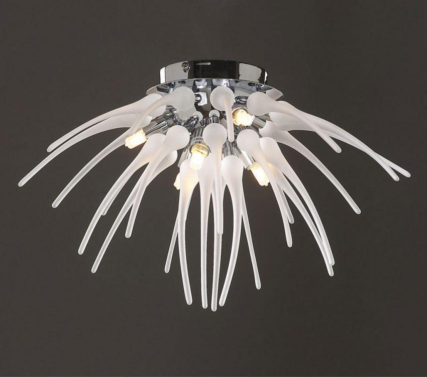 Plafón de techo diseño 6 luces serie MINA