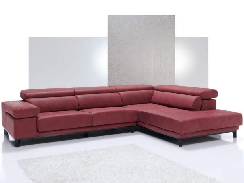 Sofá de diseño modelo Iris, sofás con chaise-longue de WIOSOFAS